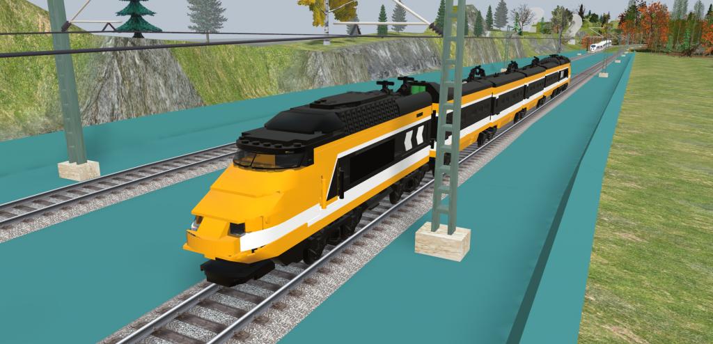 Horizon Express in 3D train studio